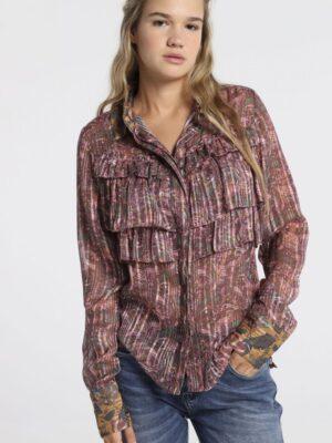 lois jeans kuchen-pie-camisa-volantes-hilo-lurex-texas-roses