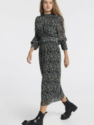 lois jeans royal-selva-vestido-estampado-fajin-fall-supply